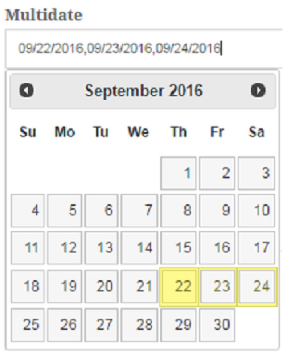 Select multidate in jquery datepicker | NR Tech Web Solution